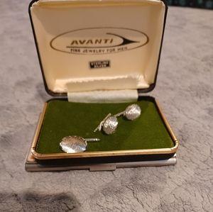 Avanti silver tie pin & cufflinks  set